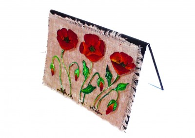 Carnet lin coquelicots