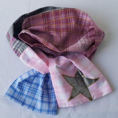 écharpe patchwork enfant rose 1