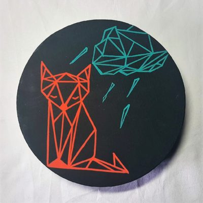 boite à thé origami renard noire 5
