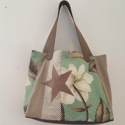 sac étoile pivoine céladon mastic