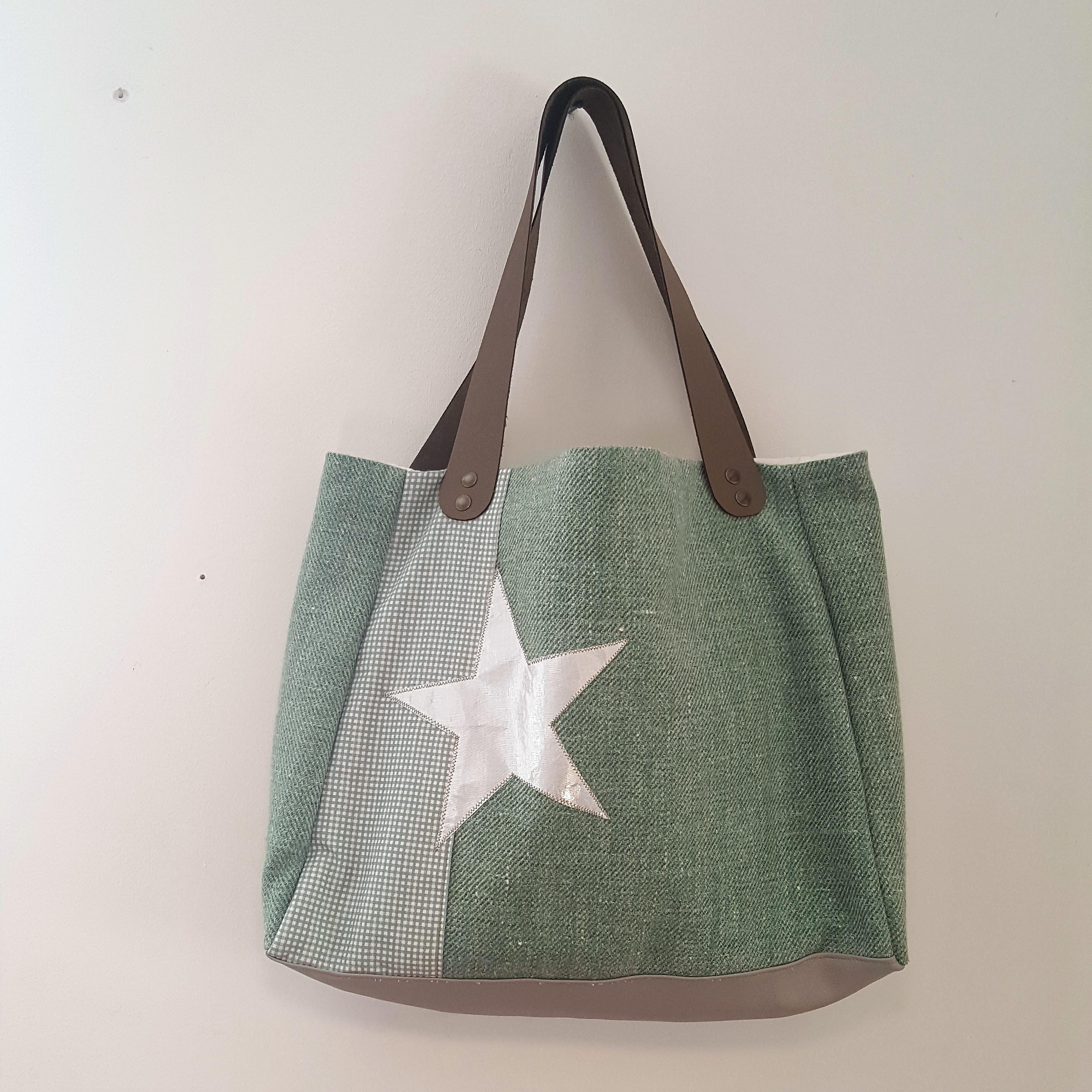 sac étoile vert céladon 0