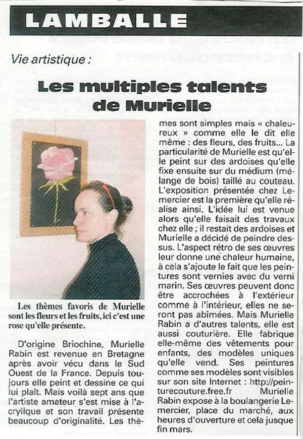 Multipes talents Murielle-2003