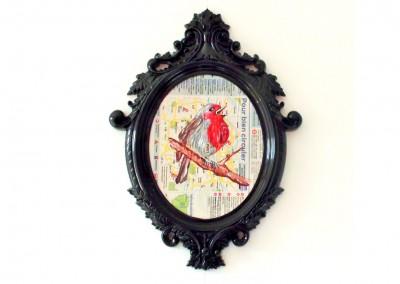 Cadre baroque bird