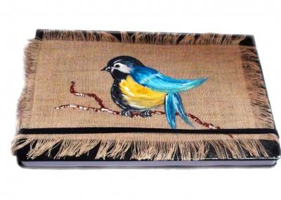 Carnet lin bird bleu