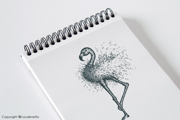 Flamant croquis