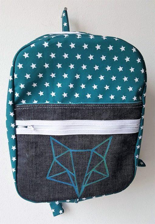 sac à dos origami bleu renard
