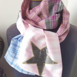 écharpe patchwork enfant rose