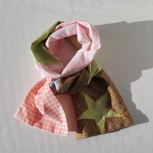 écharpe patchwork vert4