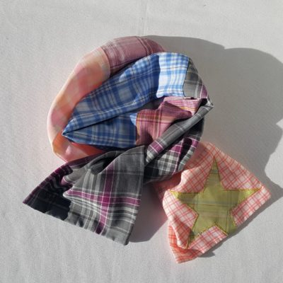 écharpe patchwork vert6