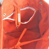 SAC CABAS CANEVAS BOUQUET ORANGE INTERIEUR