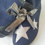 boots bleu marine étoiles argent 1