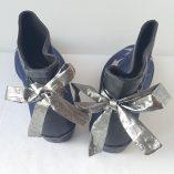 boots bleu marine étoiles argent 3