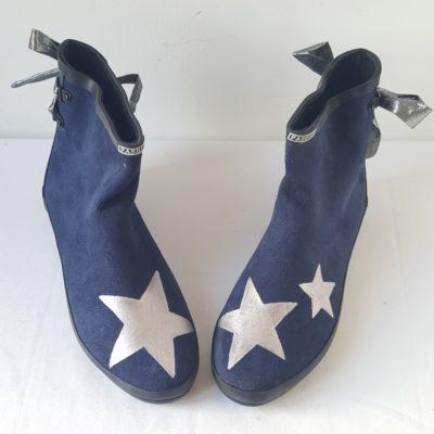 boots bleu marine étoiles argent