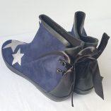 boots bleu marine étoiles argent 5