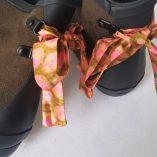 boots kaki étoiles ruban rose vert 1