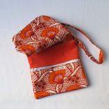 pochette renard origami orange ouverte