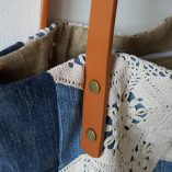 sac jean crochet anses cuir détail 4