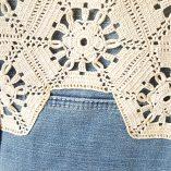 sac jean crochet anses jean détail