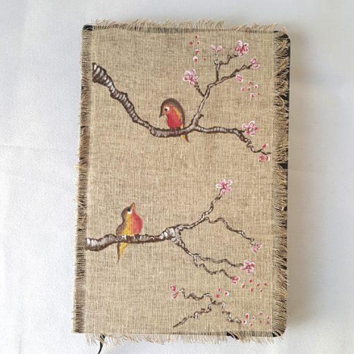 agenda 2018 birds-felurs de cerisier modèle 4