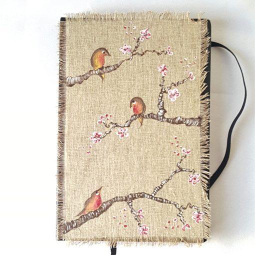 agenda 2018 birds-fleurs de cerisier modèle 3 - VENDU