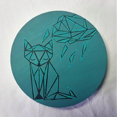 boite à thé origami renard bleu canard 3
