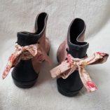boots rose poudré étoiles taupe noeud toile de jouy 3