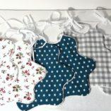 bavoir collection nuage étoiles bleu canard-liberty,vichy