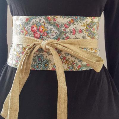 obi ceinture réversible vintage 2