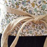 obi - lin coton fleurs cerisier liberty réversible 1