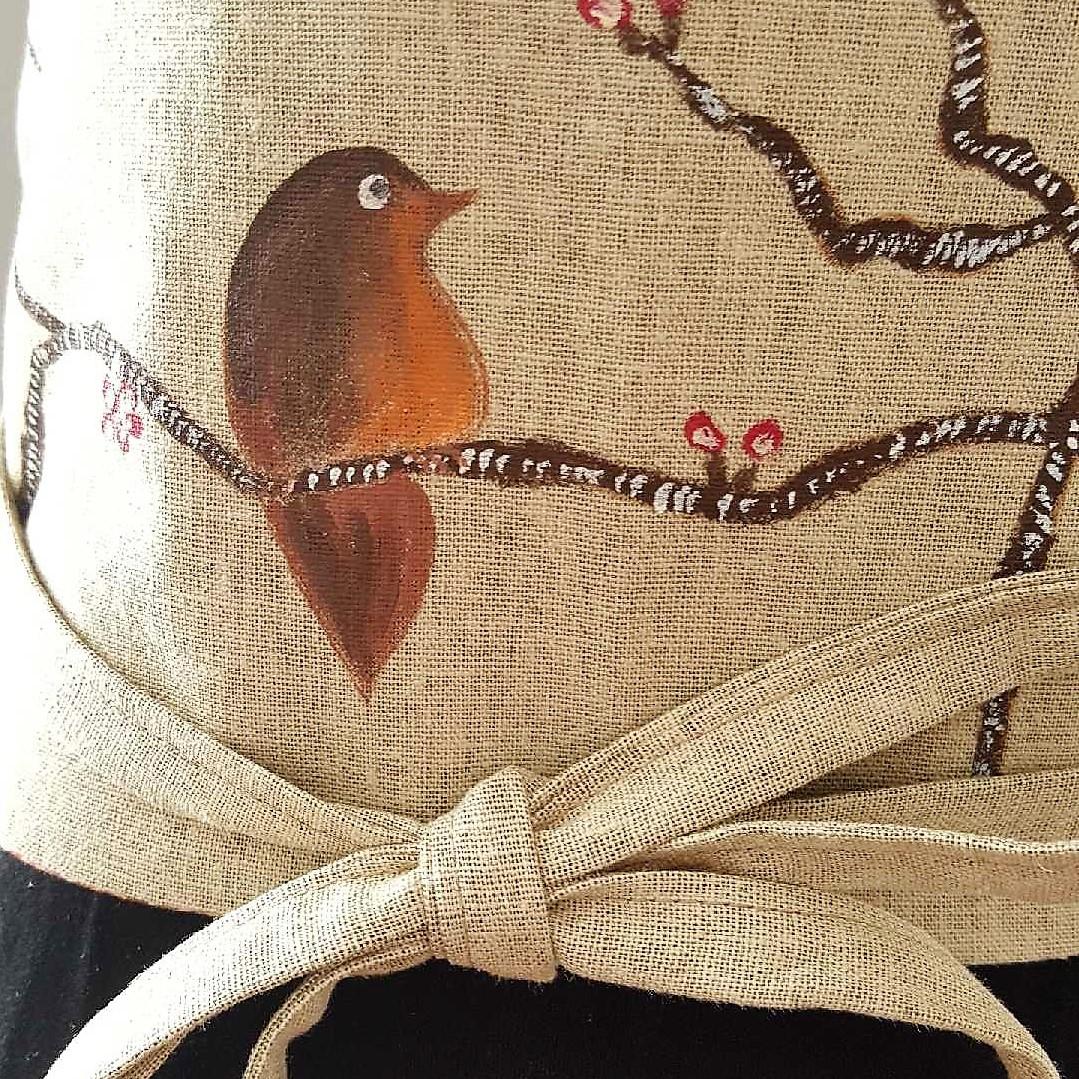 obi - lin coton fleurs cerisier liberty réversible 2
