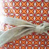 obi- lin coton fleurs cerisier orange origami réversible 2