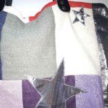 sac étoilé patchwork de lin cuir et argent 2