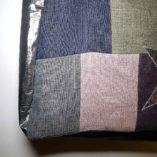 sac étoilé patchwork de lin cuir et argent 3