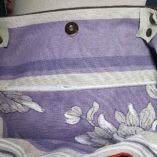 sac étoilé patchwork de lin cuir et argent 4