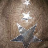 sac étoilé patchwork de lin cuir et argent 6