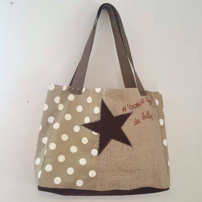 sac étoile brille pois-lin 0
