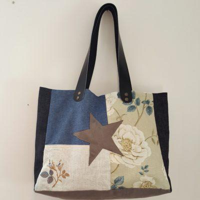 sac étoile jean-roses bleues-lin-broderies