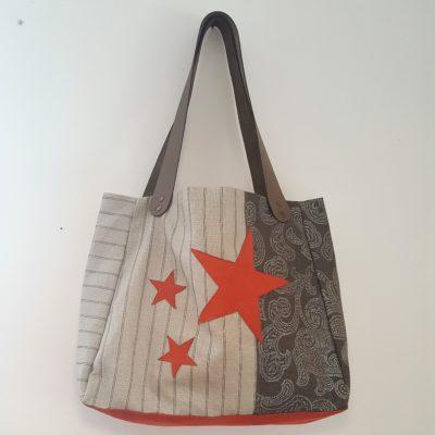 sac étoile rouille-lin 0