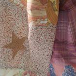 écharpe patchwork étoile vieil or t