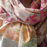 écharpe patchwork étoile vieil or u