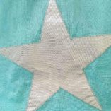 ECHARPE PATCHWORK BLUE GREEN-STAR 13