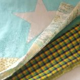ECHARPE PATCHWORK BLUE GREEN-STAR 6