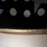 sac étoilé à pois noir et blanc étoile gold