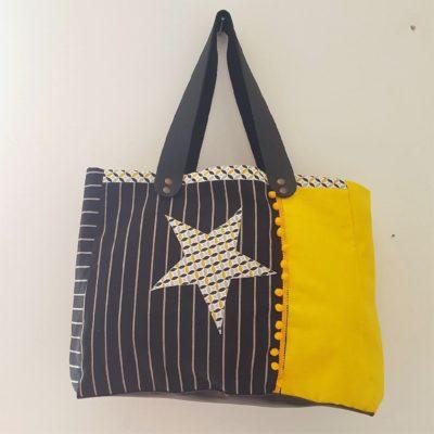 sac noir jaune 1