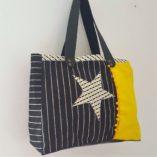 sac noir jaune