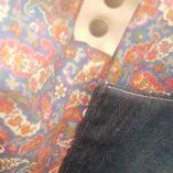 sac double étoile recto verso version luxe cuir et jean