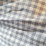écharpe patchwork nuances de grey étoilée pièce unique