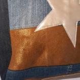 sac étoilé mordoré gold or jean pièce unique