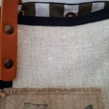 sac la poste lin coton noir 1