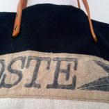 sac la poste lin coton noir 3